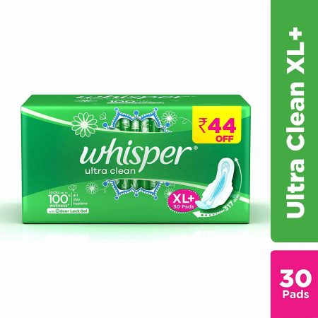 Whisper Ultra Clean (XL+30Pads)