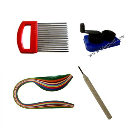 400 Multicolor Strips ,Comb, Crimping Tool, Needle