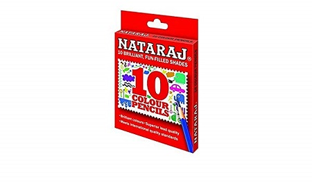 NATARAJ – Half Size 10 Colour Pencils (Set of 3)