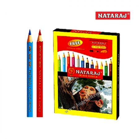 NATARAJ - Half Size 10 Colour Pencils (Set of 3)