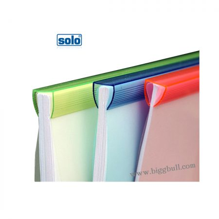 Solo Report Cover Strip File Wide And Thick A4 Pack of 5