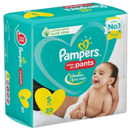 Pampers Baby-Dry Pants Diaper – S  (20 Pieces)