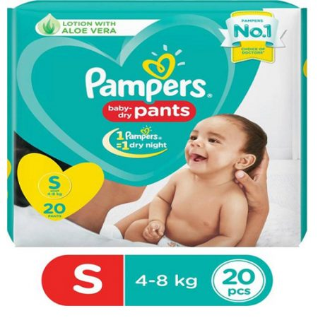 Pampers Baby-Dry Pants Diaper – S ...