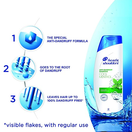 Head & Shoulders Cool Menthol Shampoo 180ml