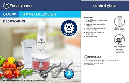 Westinghouse BS30W4P-CH 600 W Hand Blend...