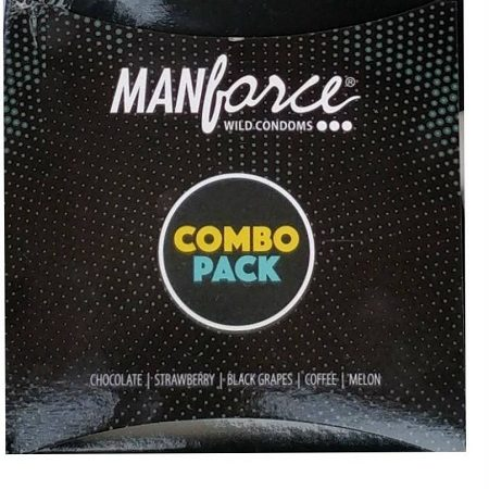 Manforce Combo Pack Chocolate, Strawberry, Coffee, Black Grapes, Melon Condom  (20S)