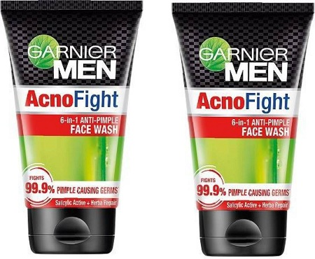 Garnier Men Acno Fight Anti-Pimple Face Wash (Pack of 2, 200 g)