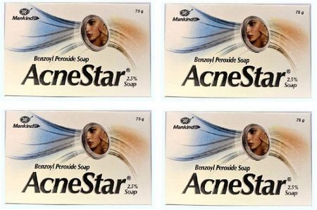 Mankind Acnestar Soap pack of 4  (75...