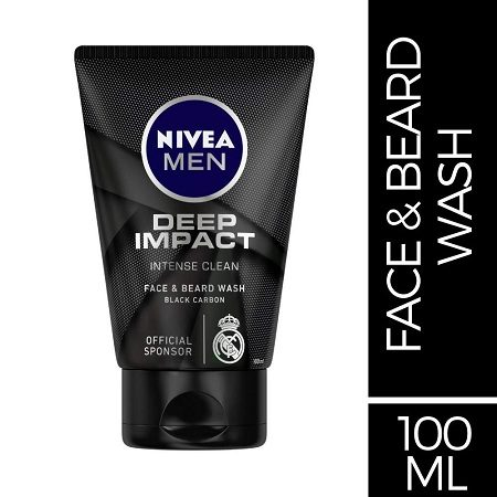 NIVEA MEN Face & Beard Wash, NIVEA MEN Face and Beard Wash, Nivea Men Deep Impact Face and Beard Wash