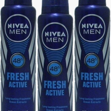Nivea Men Fresh Active Orignal Deodorant (150 ml, Pack of 3)