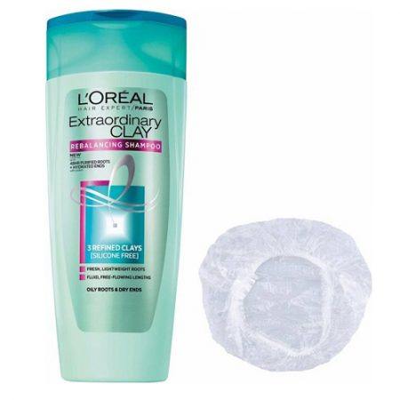 Loreal Extraordinary Clay L'Oreal Shampoo, conditioner & shower cap-360ml