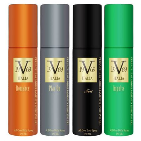 Italia Versace Nuit, Romance, Play on, Impilse, Supreme, Entice, Dare, Allure, Deo-150ml
