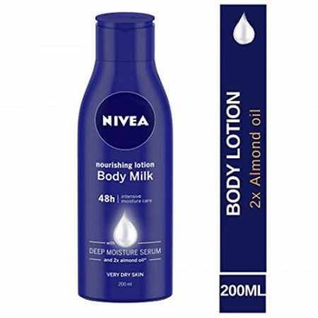 Nivea Nourishing Lotion Body Milk and 2x Almond Oil, 200ml