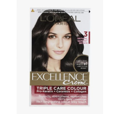 L'Oreal Paris Excellence Creme, 3 Natural Darkest Brown