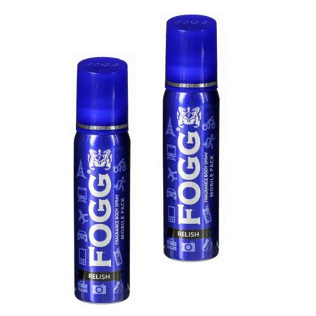 Fogg RELISH, Body Spray Mobile Pack Pocket Deo for Men and Women (25 ml x 2) Deodorant Spray –