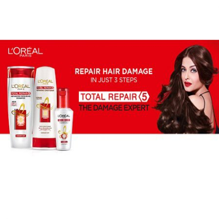 L'Oreal Paris Total Repair 5 Advanced Repairing Shampoo, Conditioner and Hair Expertise Serum