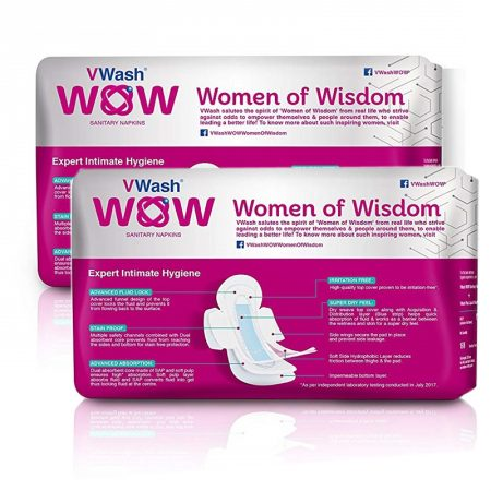 VWash Wow Sanitary Napkin Maxi–L, 5 Count (Pack of 2)