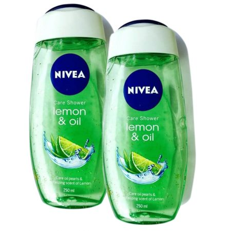 Nivea Bath Care Lemon and Oil Shower Gel, 250ml (Pack of 2)