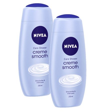 Nivea Creme Smooth Shower Gel 250 ml (Pack of 2)