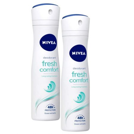 Nivea Fresh Comfort Clean Scent Deodorant Spray - 150 ml (Pack of 2)