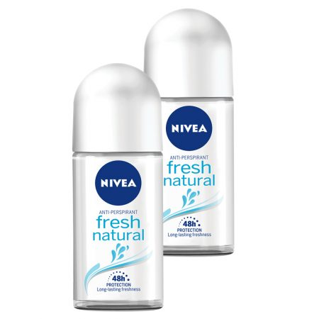 Nivea Fresh Natural Deodorant Roll On, 50ml (Pack of 2)