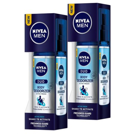 Nivea Men Active Fresh Duo Body Deodorizers, 100ml (pack of 2)