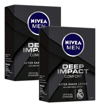 Nivea Men Deep Impact Comfort After Shave Lotion, 100ml (Pack of 2)