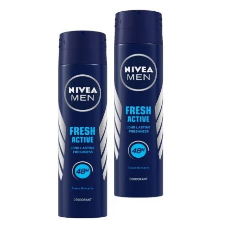 Nivea Men fresh active original deodorant (150ml) (Pack of 2)