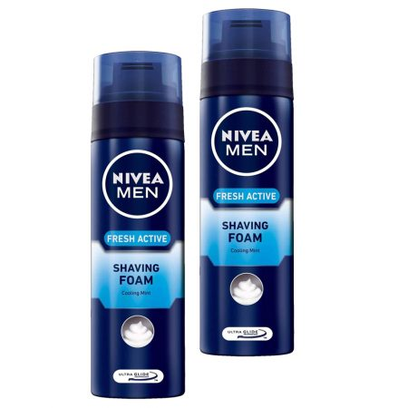 Nivea Men Fresh Active Shaving Foam – 200 ml (Pack of 2)
