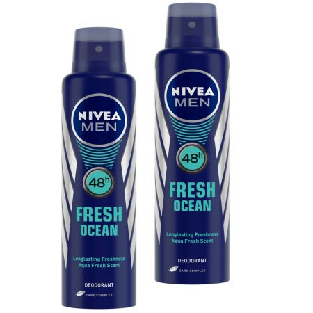 Nivea Men Fresh Ocean Deodorant, 150ml (Pack of 2)