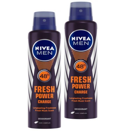 Nivea Men Fresh Power Charge Deodorant, 150ml (Pack of 2)