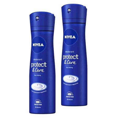 Nivea Protect & care  48 hours deodorant 150ml (Pack of 2)