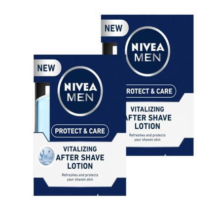 Nivea Men Protect and Care Vitalizing After Shave Lotion with Aloe Vera – 100 ml (Pack of 2)