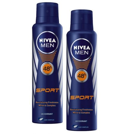 Nivea Men Sport Deodorant, 150ml (Pack of 2)