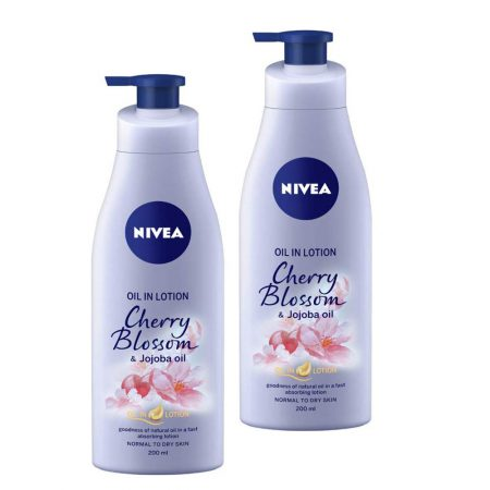 Nivea oil in lotion Cherry Blossom and Jojoba oil , 200ml (pack of 2)