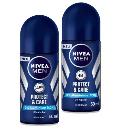Nivea Protect & Care Deodorant Roll-on – For Men  (50 ml) (Pack of 2)