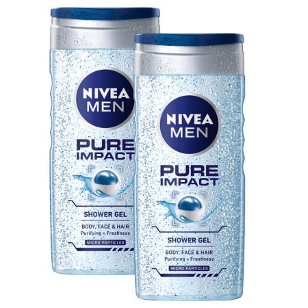 Nivea Pure Impact Shower Gel for Men, 250ml (Pack of 2)