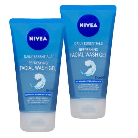 Nivea Refreshing Facial Wash Gel, 150ml (pack of 2)