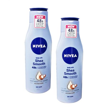 Nivea Shea Smooth Body Milk Lotion, 75ml (Pack of 2)