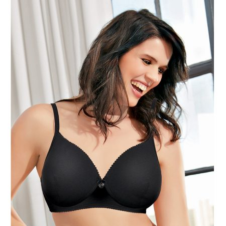 Enamor F065 Full Support T-Shirt Bra Padded & Wirefre – BLACK-34C