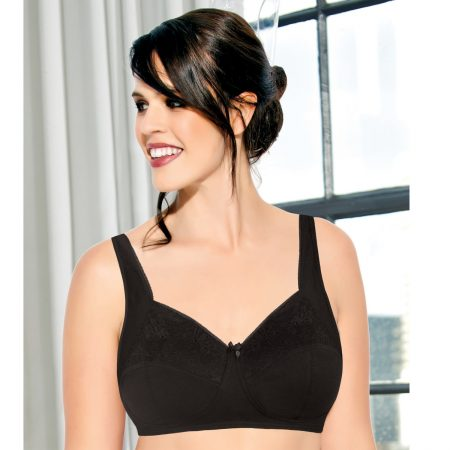 Enamor F065 Full Support T-Shirt Bra Padded & Wirefre – BLACK-34D