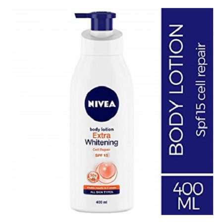 Nivea Extra Whitening Cell Repair Body Lotion, Spf 15, 400ml
