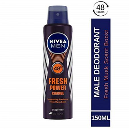 Nivea Men Fresh Power Charge Deodorant, 150ml