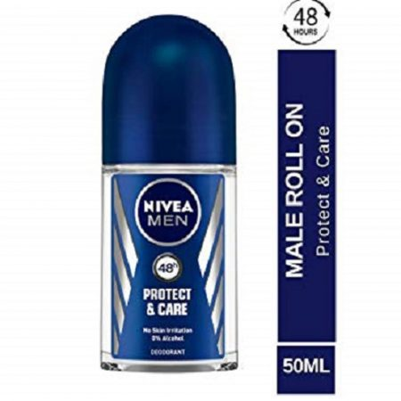 Nivea Protect & Care Deodorant Roll-on – For Men  (50 ml)
