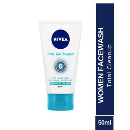 Nivea Total Face Clean Up, 50ml