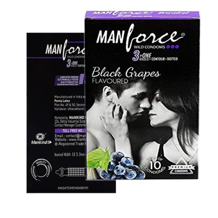 Manforce Black Grapes 3 IN ONE Condom-10 Pcs (Pack of 2)
