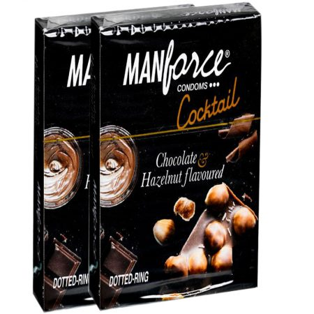 Buy – Manforce Cocktail Hazelnut & Chocolate Flavoured Condoms 10's (Pack of 2)