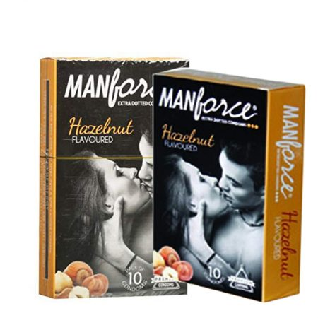 Manforce Hazelnut Extra Dotted Condoms 10 Pieces (Pack of 2)