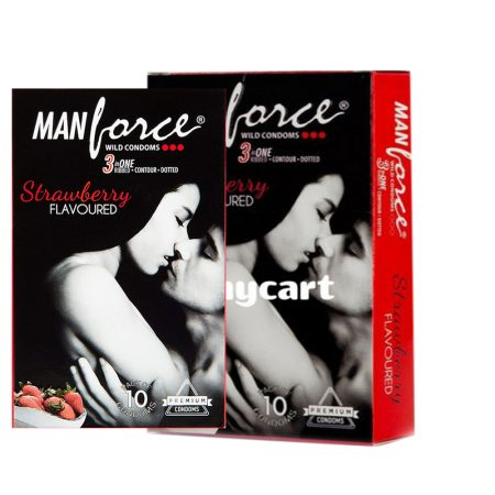 Buy – Manforce Strawberry Flavoured Condoms- 10 Pieces (Pack of 2)