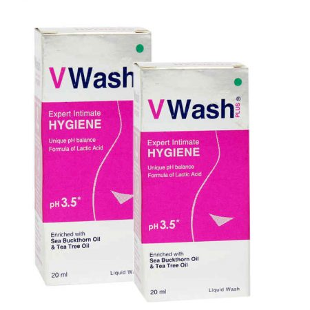 VWash Plus Intimate Hygiene Wash – 20 ml (Pack of 2)